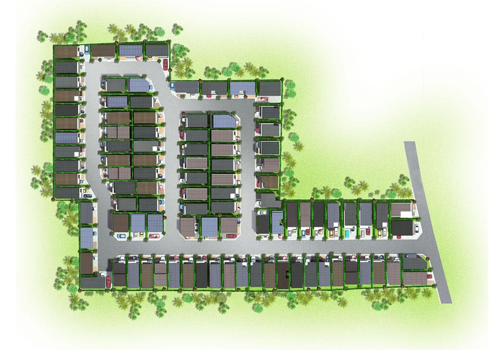 区画図パースイメージ