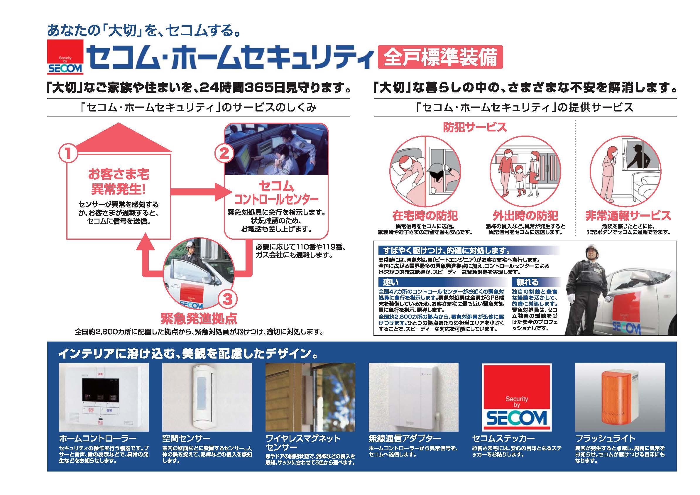 セコム・ホームセキュリティ 全戸標準装備