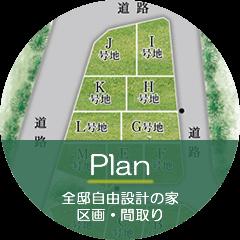 全邸自由設計の家 区画・間取り -Plan-