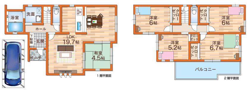 B号地モデルハウスプラン